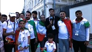 گفتگو با هواداران تیم ملی در شهر کازان روسیه