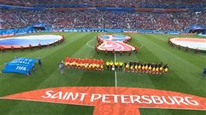 ورود و سرود دو تیم روسیه - مصر