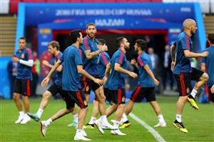 ترکیب اسپانیا مقابل ایران لو رفت؟