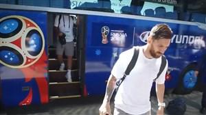 ورود تیم ملی آرژانتین به نیژنی برای بازی با کرواسی