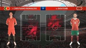 آمار بازی پرتغال - مراکش (جام جهانی روسیه)