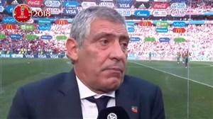 صحبتهای مربی پرتغال بعد از پیروزی مقابل مراکش