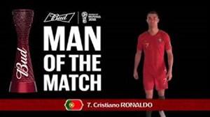 کریستیانو رونالدو بهترینبازیکندیدار پرتغال - مراکش