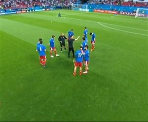 گرم کردن بازیکنان تیم ایران - اسپانیا