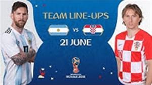 شماتیک ترکیب تیم های آرژانتین و کرواسی