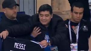 حمایت مارادونا از مسی پیش از بازی کرواسی