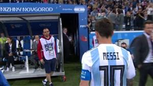 واکنش بازیکنان و هواداران در پایان بازی آرژانتین-کرواسی