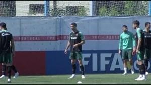 تمرین تیم ملی پرتغال با حضور رونالدو