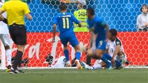 گل اول برزیل به کاستاریکا (کوتینیو)