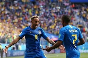 برزیل 2- کاستاریکا 0؛ نجات لحظه آخری ستارهها
