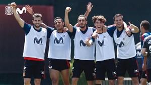 گل گوچیک بازی کردن بازیکنان اسپانیا در تمرین
