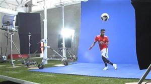 پشت صحنه عکاسی و آشنایی با فرد بازیکن جدید منچستریونایتد