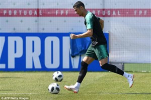 تمرین تیم ملی پرتغال پیش از تقابل با ایران