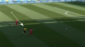 سرعت عجیب لوکاکو در مقابل مدافع تونس