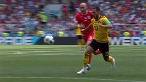 گل چهارم بلژیک به تونس (ادن هازارد)