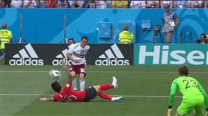 گل اول مکزیک به کره جنوبی ( کارلوس ولا-پنالتی)
