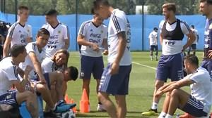 تمرین آرژانتین در حضور همهی ستاره ها