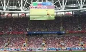 گل های بازی بلژیک - تونس از دوربین تماشاگران