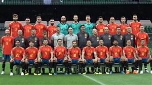 عکس رسمی و تمرین تیم ملی اسپانیا