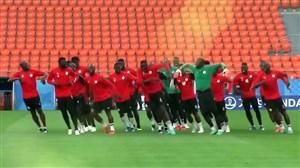 حرکات دیدنی در تمرینات پرنشاط تیمملی سنگال