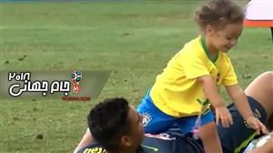 حضور فرزند کاسمیرو در تمرین تیم ملی برزیل