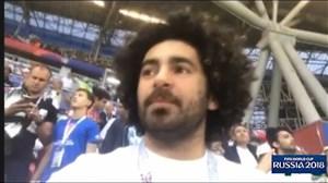 تصاویری از هومن شاهی در بازی ایران-اسپانیا
