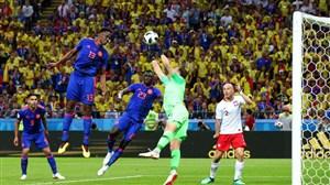 مدافع کلمبیا، پنجمین گلزن بارسا در جام جهانی