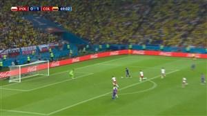 گل دوم کلمبیا به لهستان (فالکائو)