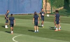 تمرین آمادهسازی برزیل برای بازی سوم در جامجهانی