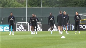 تمرین آمادهسازی تیم انگلیس برای بازی با بلژیک