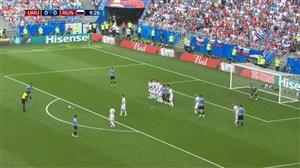 گل اول اروگوئه به روسیه (سوارز)