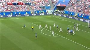 گل دوم اروگوئه به روسیه (دنیس چریشف -گل به خودی)