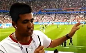 تشویق رونالدو توسط ایرانی ها حاضر در ورزشگاه
