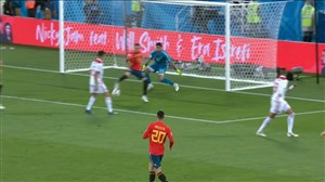 گل دوم اسپانیا به مراکش (ایاگو آسپاس)
