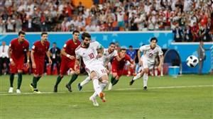صحنه پنالتی تیم ملی ایران از جایگاه تماشاگران