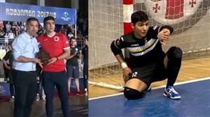 علی اصلانی، برنده جایزه بهترین دورازهبان لیگ فوتسال گرجستان