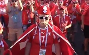 خوشحالی هواداران سوئیس پس از راهیابی به دورحذفی
