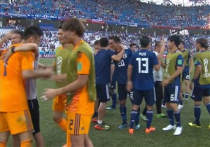 شادی هواداران و بازیکنان ژاپن از صعود به دور بعد