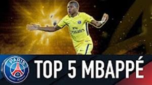 5 گل برتر کیلیان امباپه در پاریس سن ژرمن 18-2017