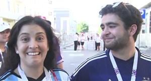 کری خوانیهای طرفداران آرژانتین و فرانسه در یک خانواده!