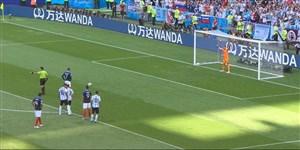 گل اول فرانسه به آرژانتین (پنالتی - گریزمان)