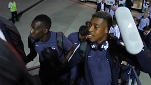 خوشحالی بازیکنان فرانسه بعد از برد آرژانتین