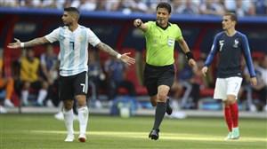 فغانی داور چهارم دیدار اروگوئه - فرانسه