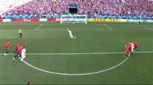 گل اول روسیه به اسپانیا (زیوبا)