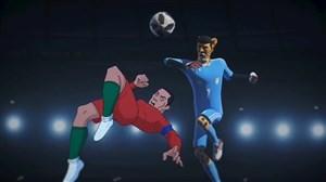 انیمیشن جالب از رویارویی بیرانوند و رونالدو