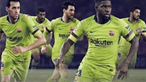 گلهای برتر بارسلونا با لباس زرد این تیم