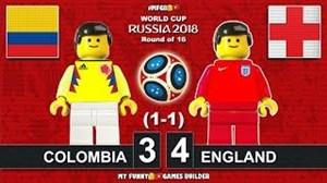 شبیه سازی دیدار کلمبیا - انگلیس جام جهانی روسیه