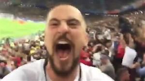 خوشحالی هواداران انگلیس بعد از پیروزی مقابل کلمبیا