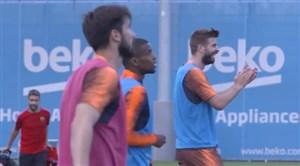 تمرین امروز بارسلونا؛ 3گل در 20 ثانیه (13-04-97)