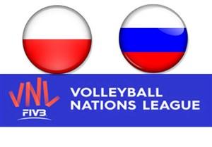 خلاصه والیبال روسیه 3 - لهستان 1 (لیگ ملتها)